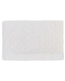 Βαμβακερό χαλάκι μπάνιου MOA λευκό