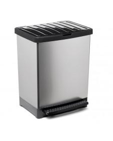 Κάδος ανακύκλωσης πλαστικός 25lit γκρι- μαύρο 06698.001