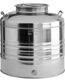 Δοχείο λαδιού ανοξείδωτο με βιδωτό καπάκι 20lt Sansone (με κάνουλα-βρύση)