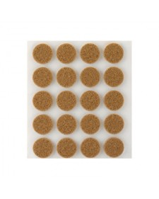 Τσοχάκι Στρογγυλό Καφέ 17mm 4071-4 - 20τμχ