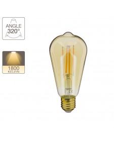 Xanlite Λάμπα LED 7W Vintage ST64 Ambre E27 638LM 1800K 423678