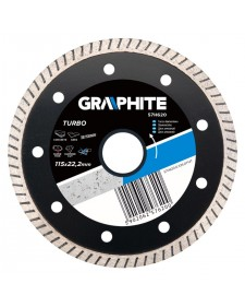 GRAPHITE Διαμαντόδισκος Turbo 115mm 57H620