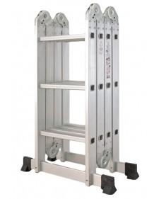 Inox Kiss Πολυμορφική σκάλα αλουμινίου 4x4 Σκαλιά LAD604