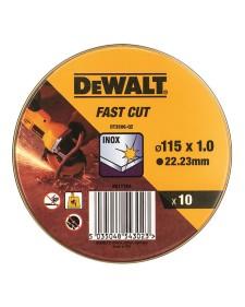 DEWALT Δίσκος κοπής INOX 115x1.0mm 10τμχ DT3506