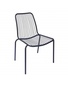 Leone Καρέκλα αλουμινίου μαύρο